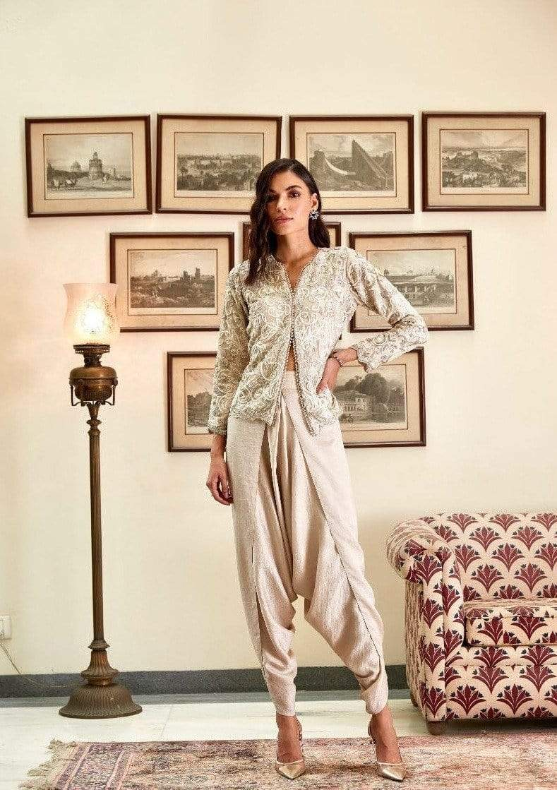 Twinkle Hanspal Co-ordinated sets Jacket and dhoti pants set