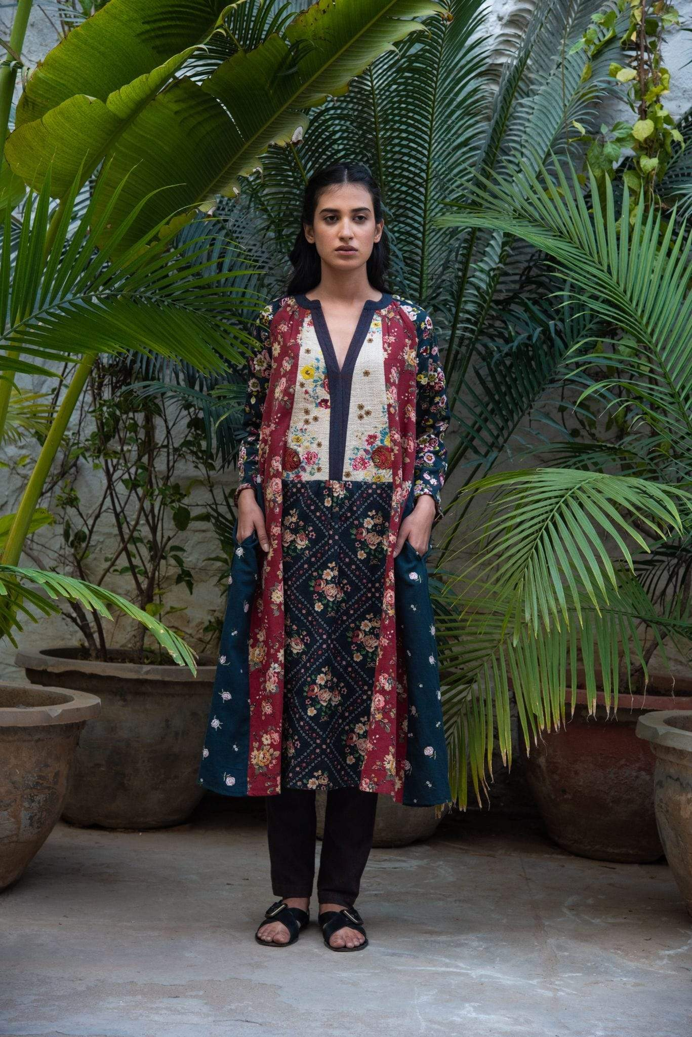 Vrisa Kurtas Rose embroidered kurta