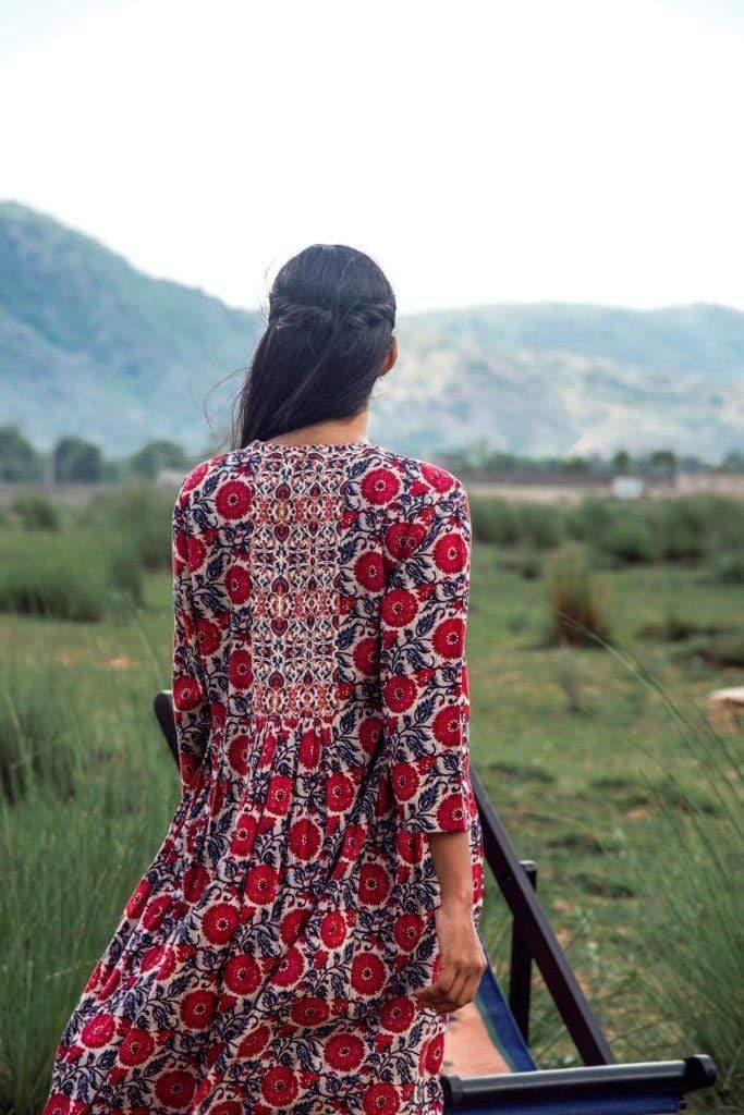 Vrisa Tunics Floral printed dress