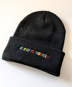 Be Kind To Yourself-Multi Color Knit Beanie