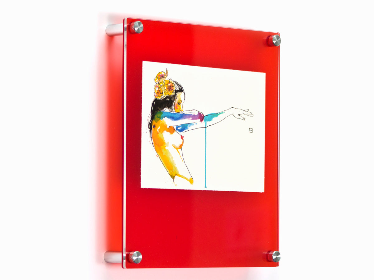 10x12 Double Panel Color Frame Red | Wexel Art