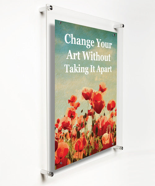 Case Of Four 21x27 Easy Change Acrylic Floating Frames For 18x24 Art