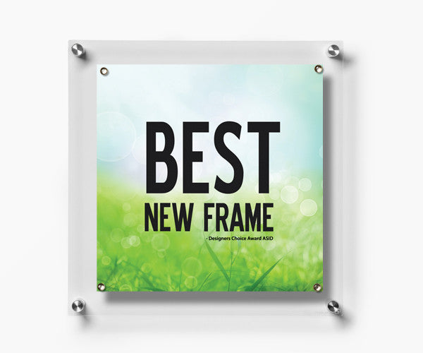 Case Of Five 14x14 Single Panel Acrylic Wall Frames Magnets Wexel Art