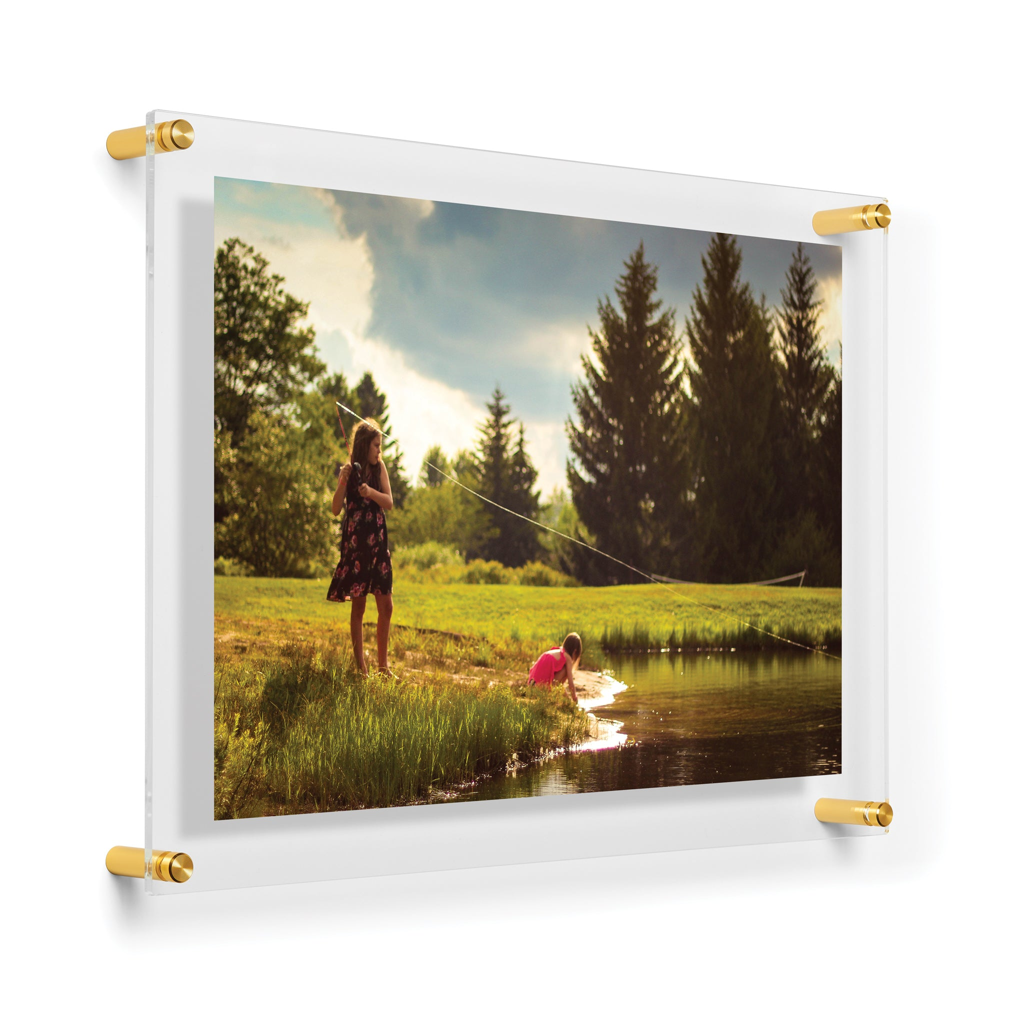 Double Panel Acrylic Floating Frame 15 X 21 Wexel Art