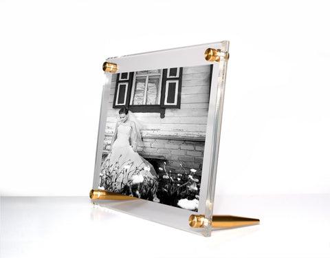 Acrylic Bevel Tabletop Float Frame For 5 X 7 Photos