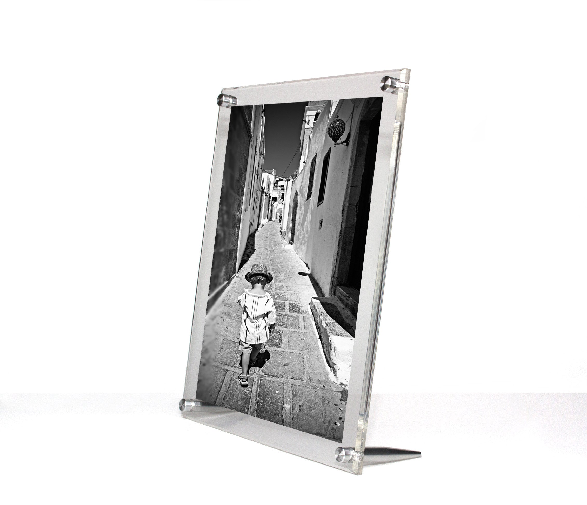 Clear Acrylic Tabletop Float Frame For 8x10 Photos Wexel Art