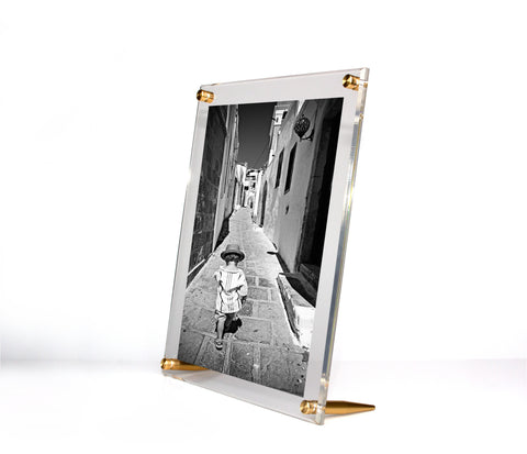 Acrylic Bevel TableTop Float Frame For 8 X 10 Photos