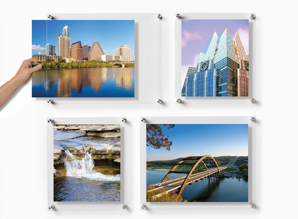 double panel quattro set of 4 floating frames 4012d