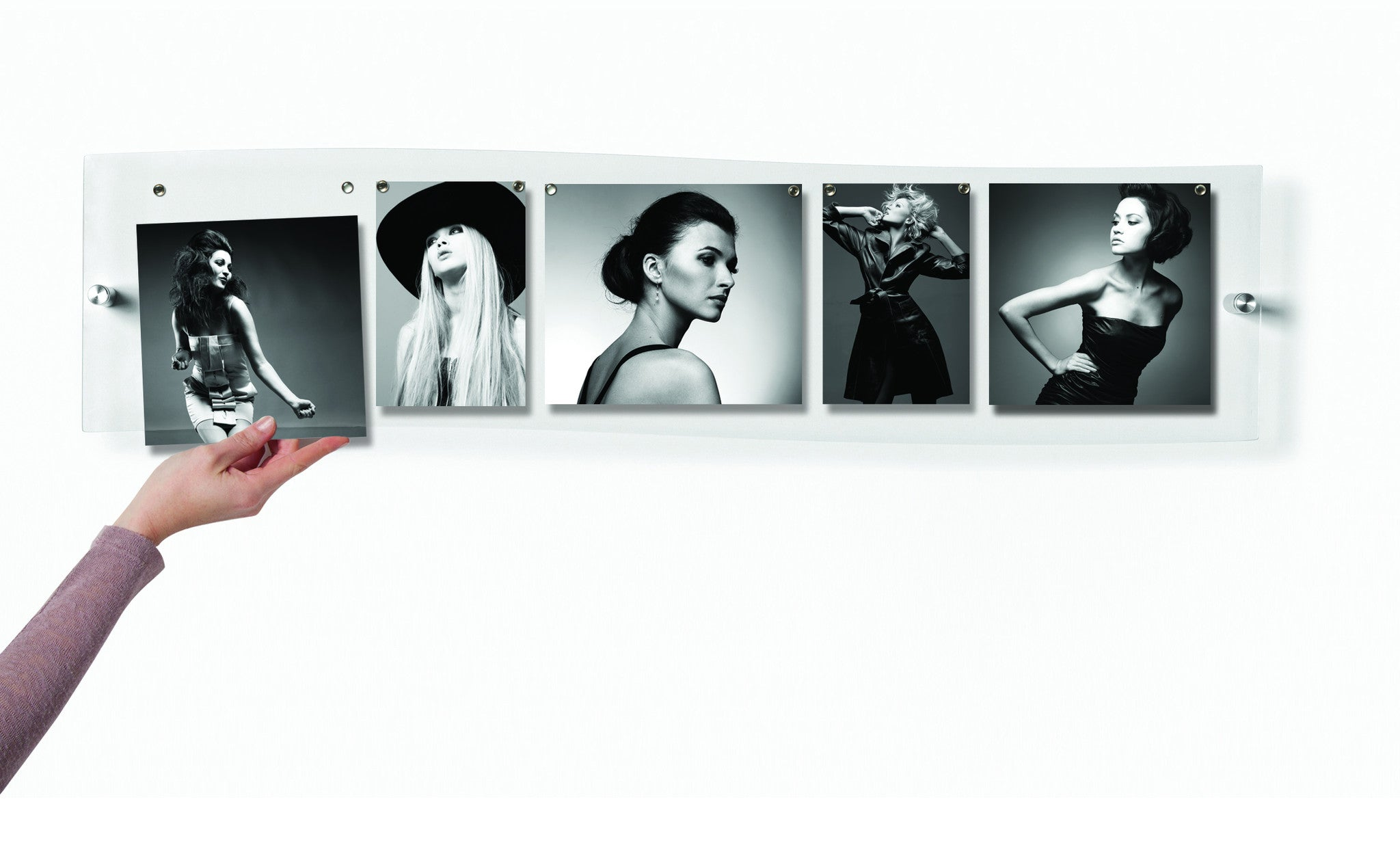 Panoramic Floating Acrylic Wall Display - Case of Four Single Panel ...