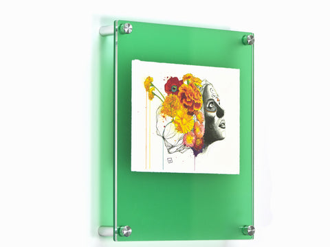 12x10 emerald frost double panel floating frame for 5x7 photos