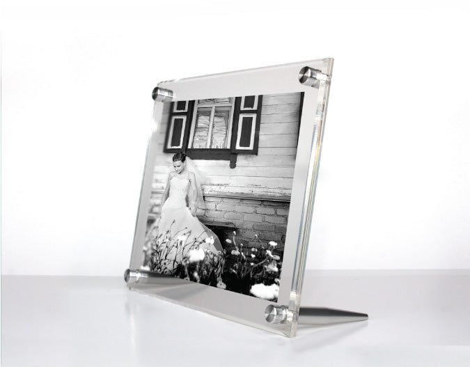 Clear Acrylic Tabletop Float Frame for 5x7\