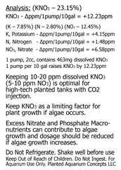 Potassium Nitrate Fertilizer KNO3, 16oz