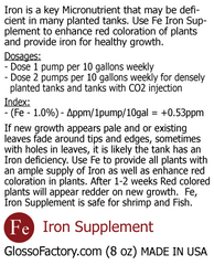 Iron Fertilizer Supplement, 8oz