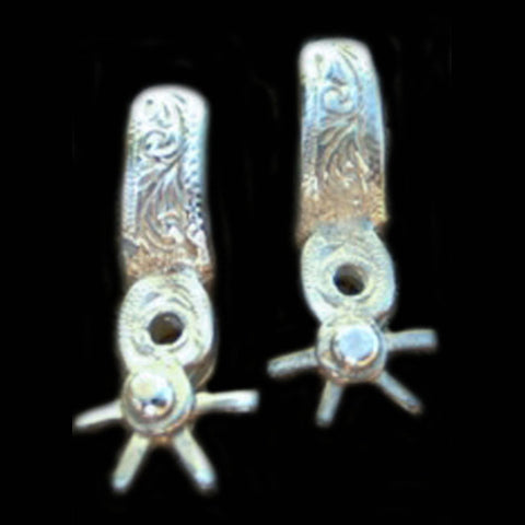 Silver Mexican Spur Earrings