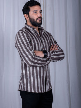 Tonal Grey Stripes Shirt