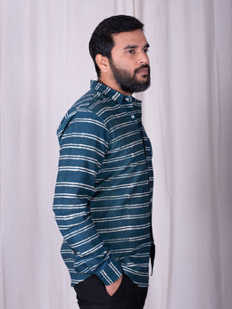 Teal Stripe Shirt