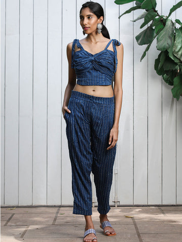 Knot Top and Pants Set
