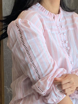 Baby Pink Striped Shirt