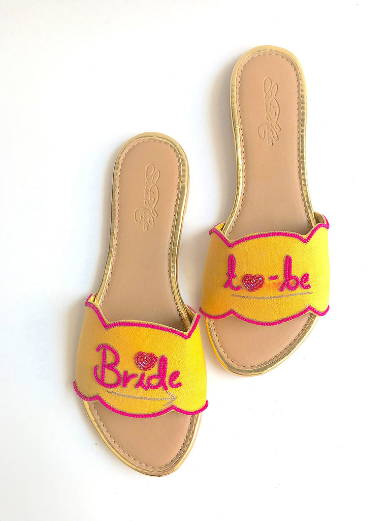 Bride-To-Be Yellow Slides
