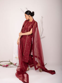 Chili Pepper Embroidery Pavaki Set