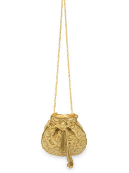 Gold Glamourous Embroidered Potli Bag