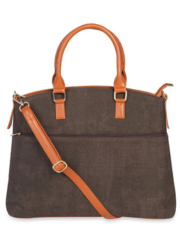 Solid Brown Canvas Tote Bag