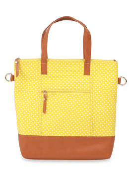 Yellow Polka Dotted Tote Bag