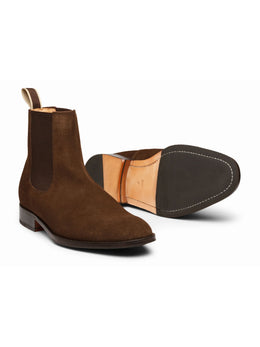 Chelsea Dark Brown Suede Boots
