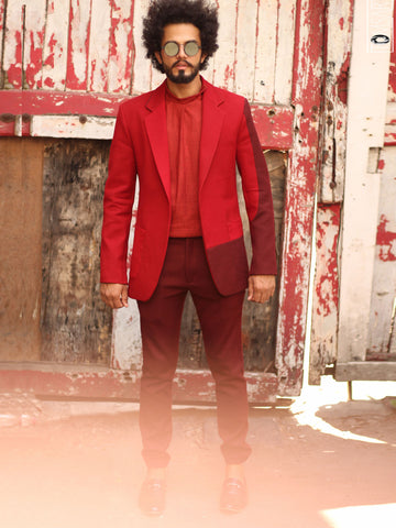 Ahantva Red Suit Set with Trousers