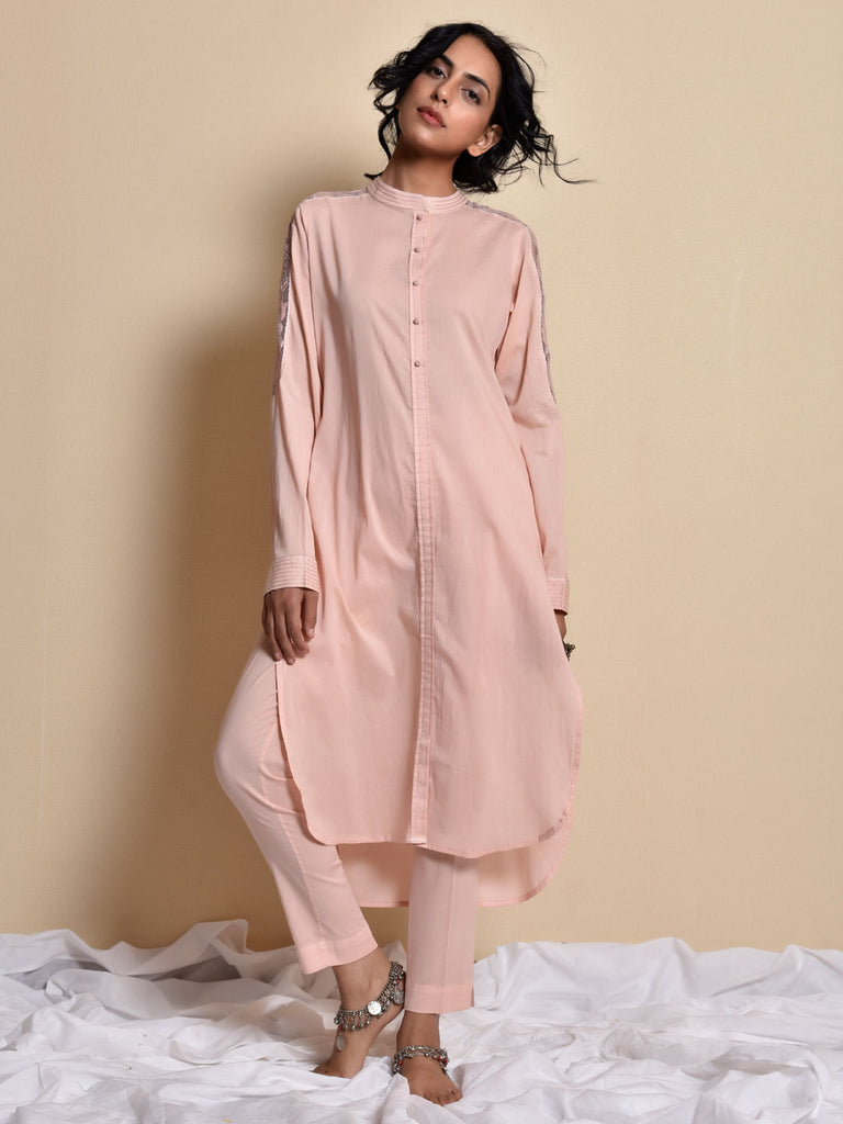 Blush Pink Noon - Gulabi Kurta and Pant Set