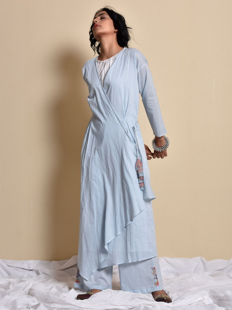 Sky Blue Akashi Taana Kameez and Pants Set