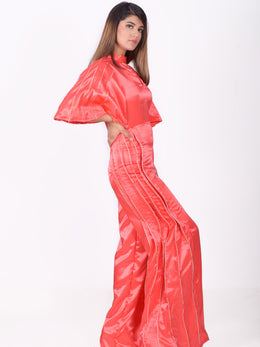 Coral Wide Leg Jumpsuit