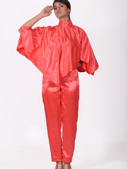 Coral Cape with Pants