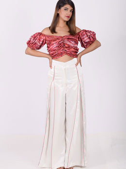 Inverted Pleat Pants with a Blouse
