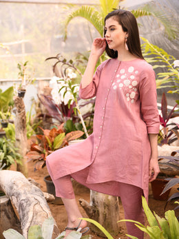 Rose Pink Asymmetrical Tunic