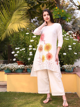 Ivory Hand Painted Tunic