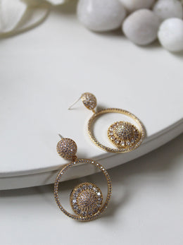 Yellow Gold Plated Cascade Earrings