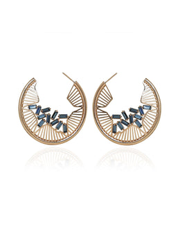 Reinvented Classic Hoops with Sculptural Organic Pattern