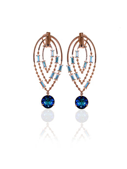 Crystal Dangler Cobalt Earrings