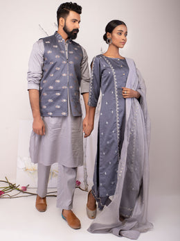 Dusty Blue Medh set