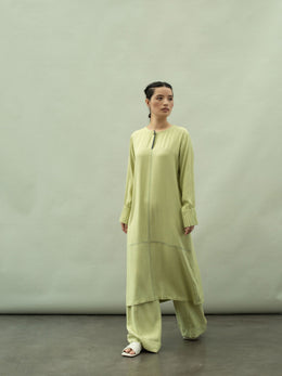 Solid A-line Tunic With Stitch Detail