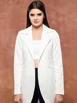 White Front Open Jacket