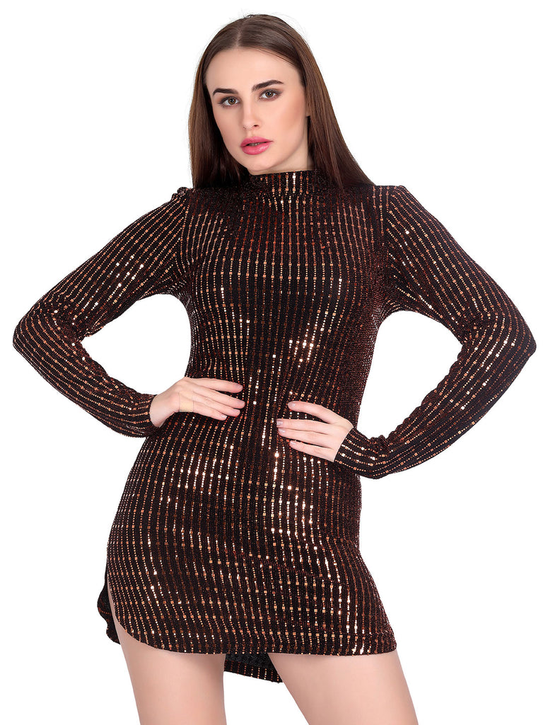 Metallic Brown Dress