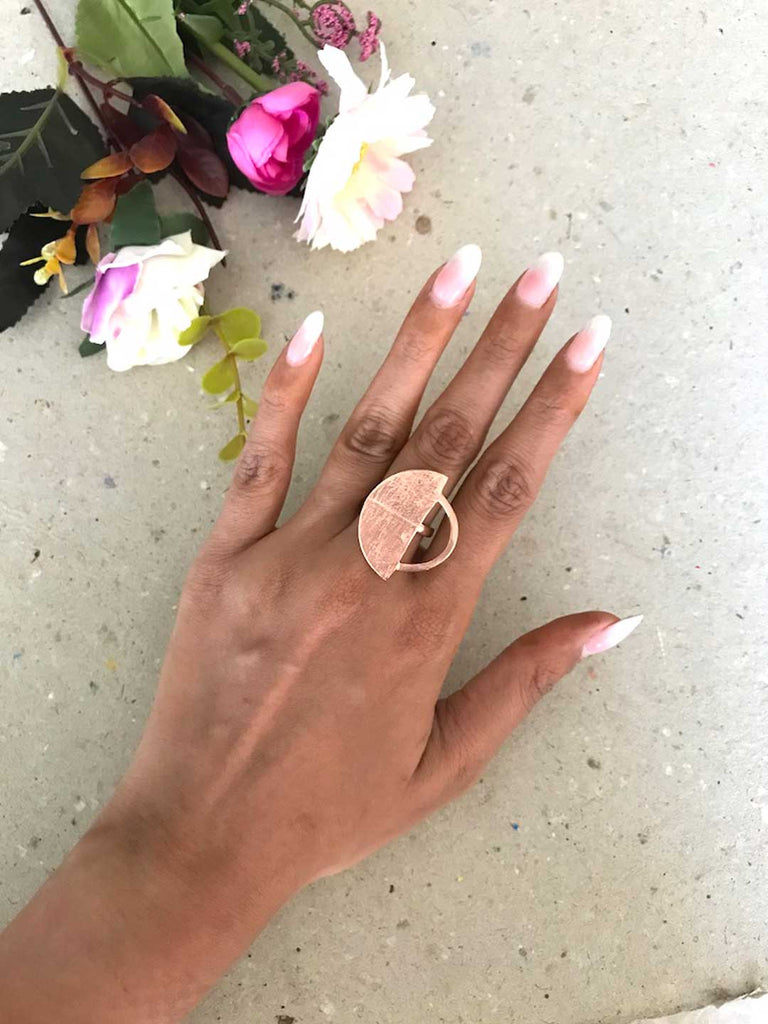 Rose Gold Plated Circle Shaped Ring