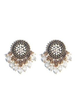 Margerite Earrings Featuring Crystalline Drops