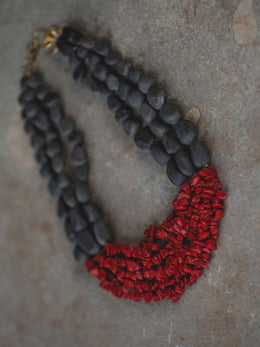 Red Coral Humming Necklace