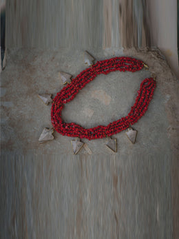 Red Coral Long Necklace