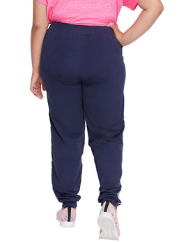 Tuna London Plus Size Navy Blue Joggers