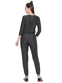 Tuna London Grey Jumpsuits with White Stripes