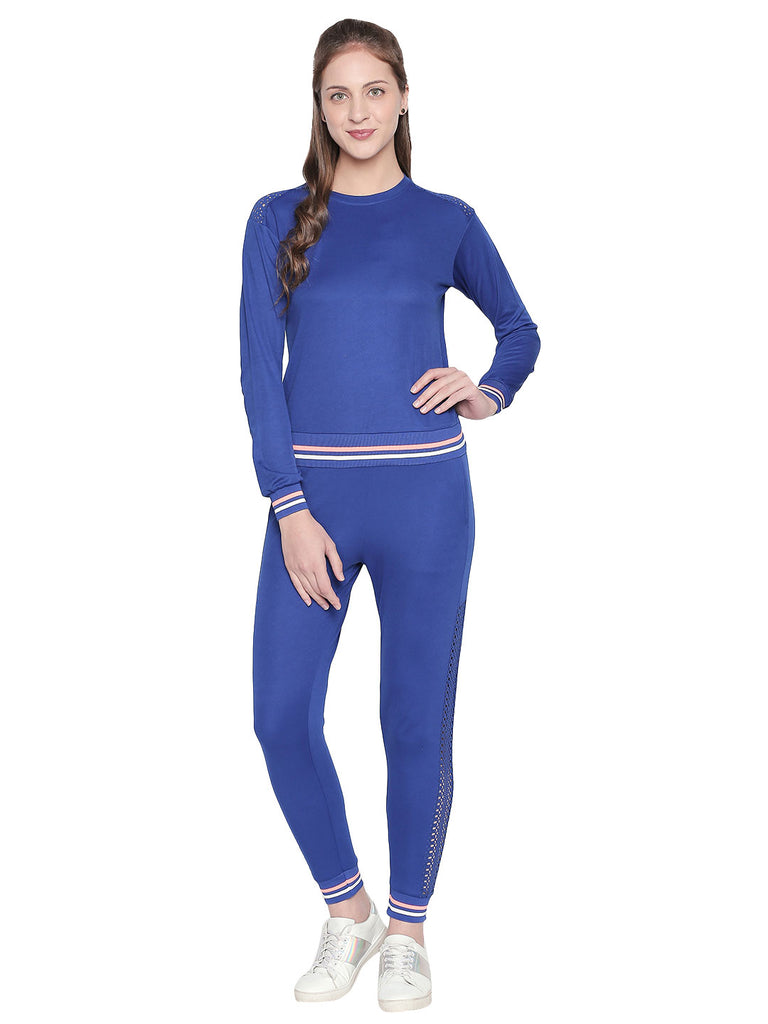 Blue Casual Sportswear Track Pants